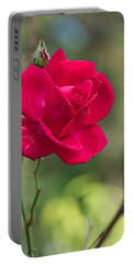 Portable Battery Charger featuring the photograph One Rose by Joseph Yarbrough