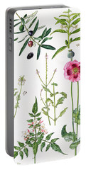 Opium Poppy And Other Plants  Portable Battery Charger