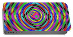 Portable Battery Charger featuring the digital art Optical Illusion by Mario Carini