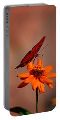 Orange Butterfly Orange Flower Portable Battery Charger