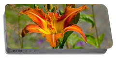 Portable Battery Charger featuring the photograph Orange Day Lily by Tikvah's Hope