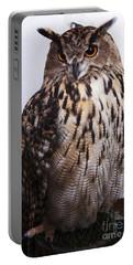Orange Owl Eyes Portable Battery Charger
