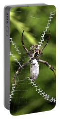 Portable Battery Charger featuring the photograph Orb Weaver by Joy Watson