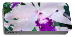 Portable Battery Charger featuring the photograph Orchids White And Purple by Steven Sparks