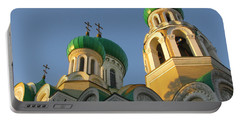Orthodox Church Of Sts Michael And Constantine- Vilnius Lithuania Portable Battery Charger by Ausra Huntington nee Paulauskaite