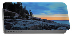 Otter Point At Dawn Portable Battery Charger