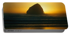 Pacific City Sunset Portable Battery Charger by Chriss Pagani