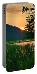 Portable Battery Charger featuring the photograph Pack River Delta Sunset 2 by Albert Seger