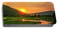 Portable Battery Charger featuring the photograph Pack River Delta Sunset by Albert Seger