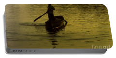 Portable Battery Charger featuring the photograph Paddle Boy by Lydia Holly