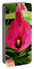 Portable Battery Charger featuring the photograph Painted Pink Cala Lily by Debbie Portwood