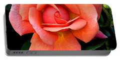Portable Battery Charger featuring the photograph Painted Rose by Cindy Manero