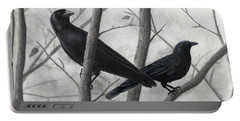 Pair Of Crows Portable Battery Charger