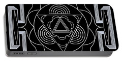 Portable Battery Charger featuring the digital art Palace Hypnosis by Mario Carini