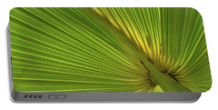 Portable Battery Charger featuring the photograph Palm Leaf II by JD Grimes
