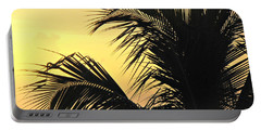 Palm Tree Sunset Portable Battery Charger