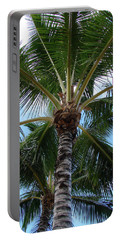 Palm Tree Umbrella Portable Battery Charger by Athena Mckinzie