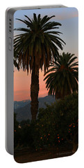 Palm Trees And Orange Trees Portable Battery Charger