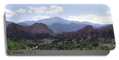 Panoramic Garden Of The Gods Portable Battery Charger