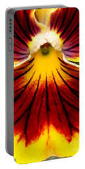 Portable Battery Charger featuring the photograph Pansy Named Imperial Gold Princess by J McCombie
