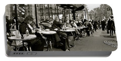Portable Battery Charger featuring the photograph Paris Cafe by Eric Tressler
