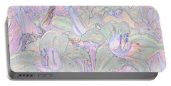 Pastel Lillies Portable Battery Charger