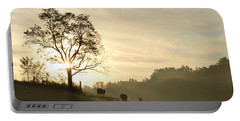 Portable Battery Charger featuring the photograph Pasture Sunrise by JD Grimes