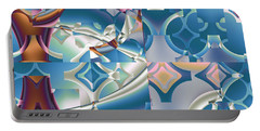 Portable Battery Charger featuring the digital art Patchwork Abstract by Mario Carini