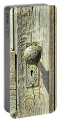 Portable Battery Charger featuring the photograph Patina Knob by Fran Riley