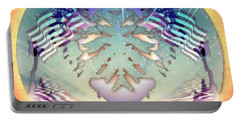 Portable Battery Charger featuring the painting Patriotic Reflections by Mario Carini