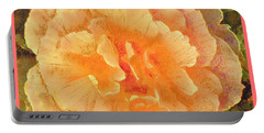Peach Begonia Portable Battery Charger