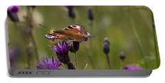 Peacock Butterfly On Knapweed Portable Battery Charger