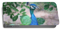 Portable Battery Charger featuring the photograph Peacock by Donna  Smith