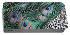 Portable Battery Charger featuring the photograph Peacock Feathers by Donna  Smith