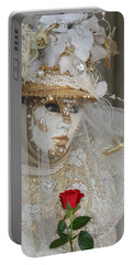 Pearl Bride With Rose 2 Portable Battery Charger