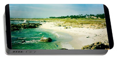 Portable Battery Charger featuring the photograph Pebble Beach by Nina Prommer