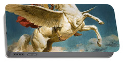Pegasus The Winged Horse Portable Battery Charger by Fortunino Matania