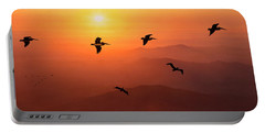 Portable Battery Charger featuring the photograph Pelican Migration by Chris Lord