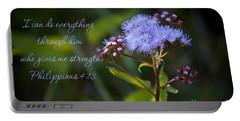 Philippians Verse Portable Battery Charger by Lena Auxier