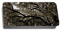 Portable Battery Charger featuring the photograph Picnic Under The Oak by DigiArt Diaries by Vicky B Fuller