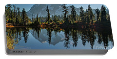 Portable Battery Charger featuring the photograph Picture Lake - Heather Meadows Landscape In Autumn Art Prints by Valerie Garner