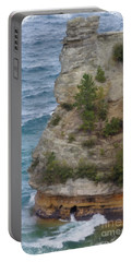 Portable Battery Charger featuring the photograph Pictured Rocks In Oil by Deniece Platt