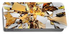 Portable Battery Charger featuring the digital art Pieces Of Gold by Phil Perkins