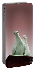 Pigeons In The Pink Portable Battery Charger by Linsey Williams