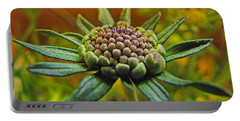 Portable Battery Charger featuring the photograph Pinchshin Bud by Debbie Portwood