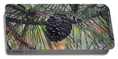 Portable Battery Charger featuring the photograph Pinecone by Donna  Smith