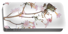 Pink Blossoms In Panama Portable Battery Charger