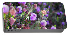 Portable Battery Charger featuring the photograph Pink Fuzzy Balls by Clayton Bruster