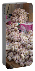 Portable Battery Charger featuring the photograph Pink Garlic by Carla Parris
