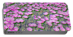 Pink Ice Plant Flowers Portable Battery Charger
